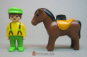 Horse Brown with Saddle 123